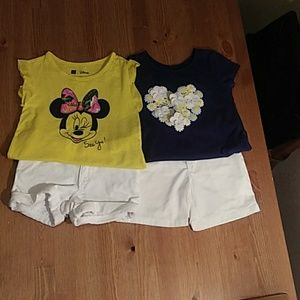 Girls summer short set